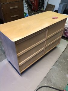 Sanded Down and ready for paint MCM dresser