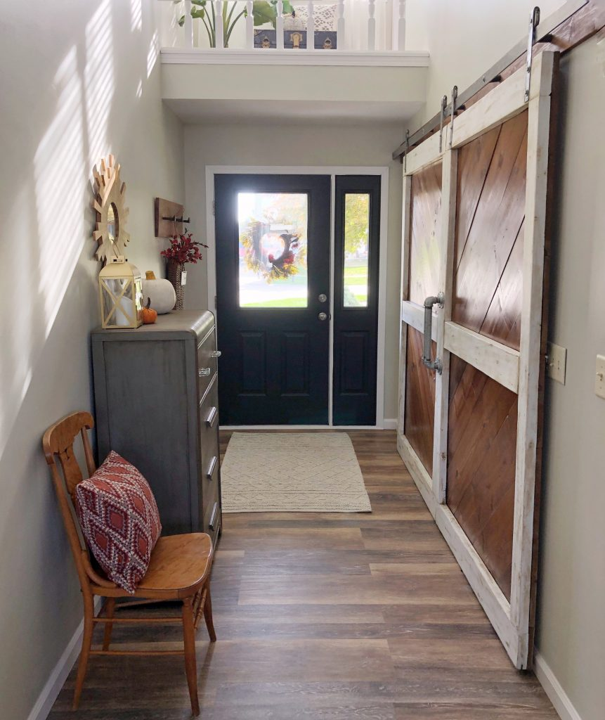 Entryway painted doors black interior door