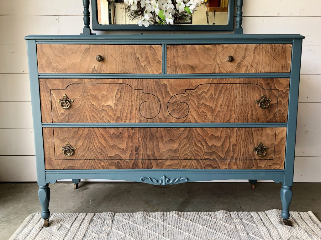 antique dresser makeover refurbished antique raw wood painted wood fusion mineral paint